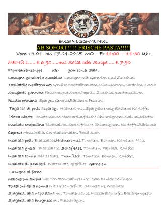 business-menus