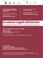 Le nuove regole del lavoro - Università degli Studi di Foggia