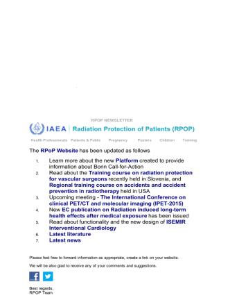 AIFMNEWS Fwd: RPOP: Update No. 79 The RPoP Website has