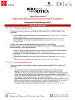 Programma Workshop AICA - Rete di Scuole AURIGA