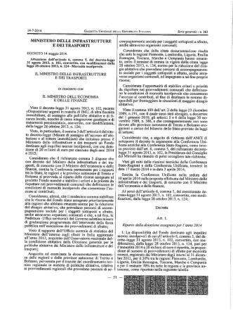 Decreto 14 maggio 2014