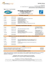 Listino prezzi revisioni zattere conformi D.M 77 2015