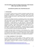 documento di consultazione