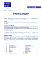 MID and SMALL Italian Indices launched by Standard Ethics