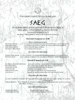 iv seminario avanzato di epigrafia greca milano – università degli