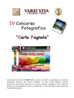 """IV Concorso Fotografico """"Carlo Fagnola"""""""