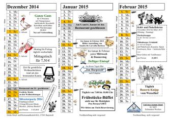 Aktionen bis Februar - AKZENT Hotel Zur Wasserburg Harpstedt