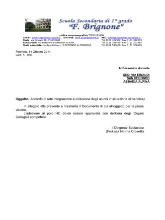 066-Accordo di rete polo HC - Scuola Secondaria di Primo Grado