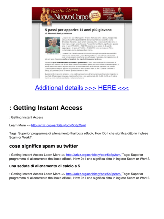 : Getting Instant Access