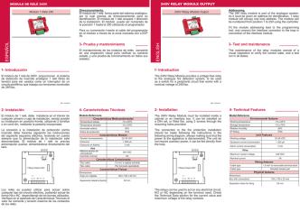55348101 Manual Modulo 1 Rele 240VAC MAD