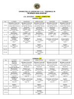 Orario Lezioni 2014_15 I sem