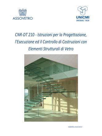 CNR-DT 210 - Istruzioni per la Progettazione, l