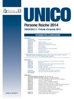 Istruzioni Unico 2014 Fascicolo 3