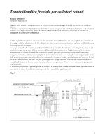 Tenuta idraulica frontale per collettori rotanti