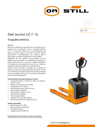 Dati tecnici LC-T 12. - Centro Carrelli S.r.l.