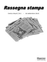 La Rassegna Stampa del 16 settembre 2014