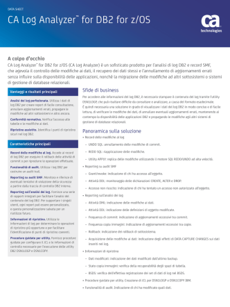 CA Log Analyzer™ for DB2 for z/OS
