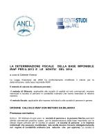 CALENDARI E CLASSIFICHE 2015-150314