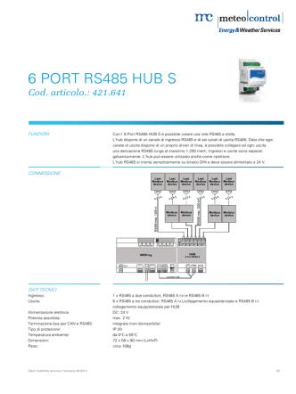 6 PORT RS485 HUB S PORT RS485 HUB S