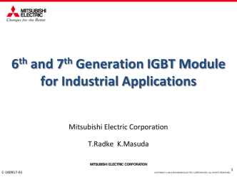 6th and 7th Generation IGBT Module for Industrial