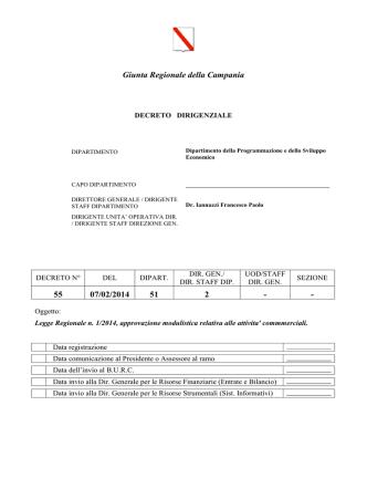 Decreto Dirigenziale 55 2014