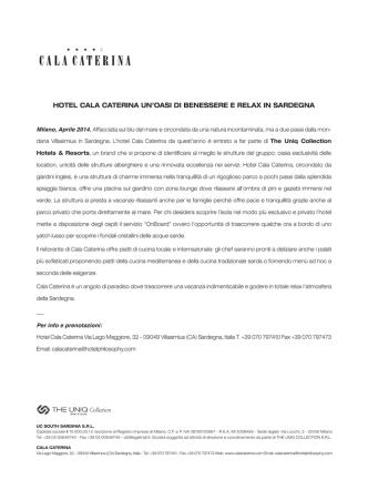 cala caterina cs 2014 - The Uniq Collection