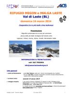 RIFUGIO MIGON e MALGA LASTE Val di Laste (BL)