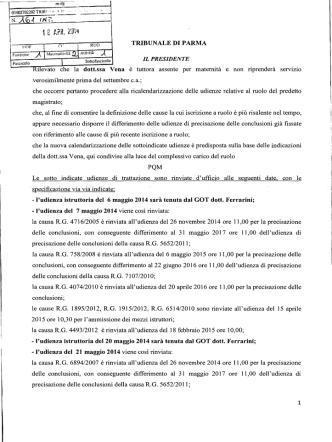 Comunicazione - Ordine degli Avvocati di Parma