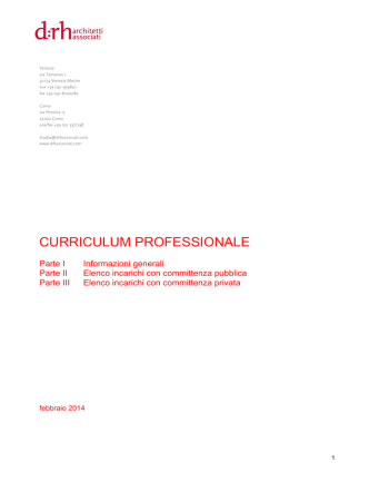 CURRICULUM PROFESSIONALE - DRH Architetti Associati