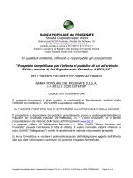 Prospetto Informativo Semplificato obbligazioni 01032015 Step Up