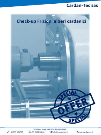 Cardan-Tec sas Check-up Frizioni alberi cardanici