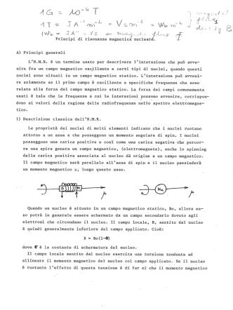 Appunti NMR
