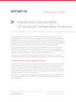 Virtualization Solution Brief - CA arcserve® Unified Data Protection