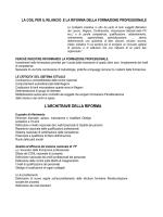 Proposta CGIL-FLC riforma Formazione Professionale del 7 marzo