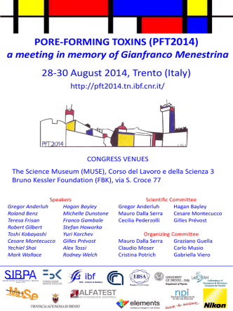 28-30 August 2014, Trento (Italy) PORE-FORMING - PFT 2014