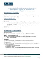 DELIBERA DEL COMITATO SETTORIALE DI