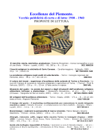 Eccellenze del Piemonte. Vecchie pubblicità di carta e di latta: 1900