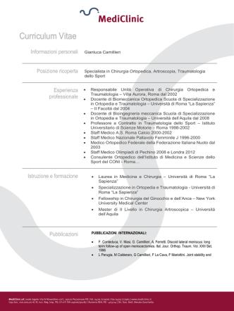 Camillieri Gianluca - MediClinic, la clinica delle eccellenze