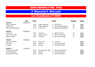 cat. Esordienti a 9 2003 ZERO BRANCO FBC 1932 2° Memorial P
