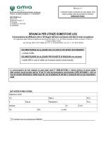 DENUNCIA PER UTENZE DOMESTICHE (UD)