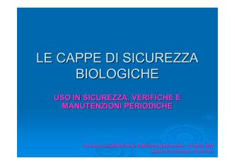 cappe biologiche - Università degli Studi di Parma