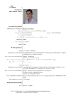 Europass CV - Spine Rehabilitation Group