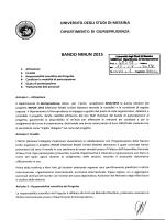 Bando Progetto NMUN 2015 - Università degli Studi di Messina