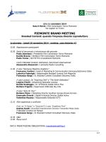 PIEMONTE BRAND MEETING - Film Commission Torino Piemonte