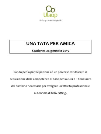 Bando - Associazione Ulaop