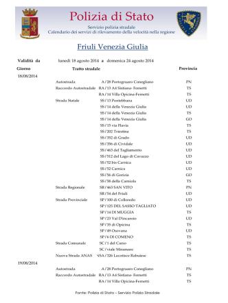 Autovelox in Friuli-Venezia-Giulia