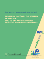 Minimum Income: The Italian Trajectory