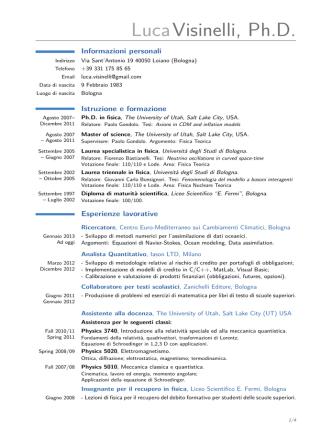Curriculum Visinelli - Gazzetta Amministrativa