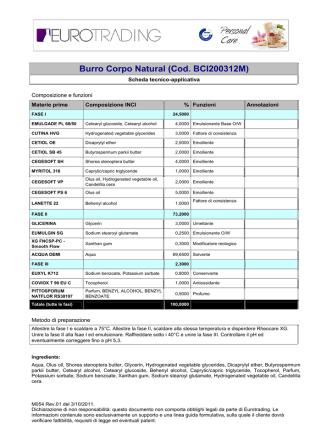 Burro Corpo Natural (Cod. BCI200312M)