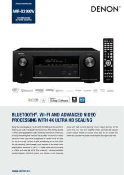 bluetooth®, wi-fi and advanced video processing with 4k ultra hd